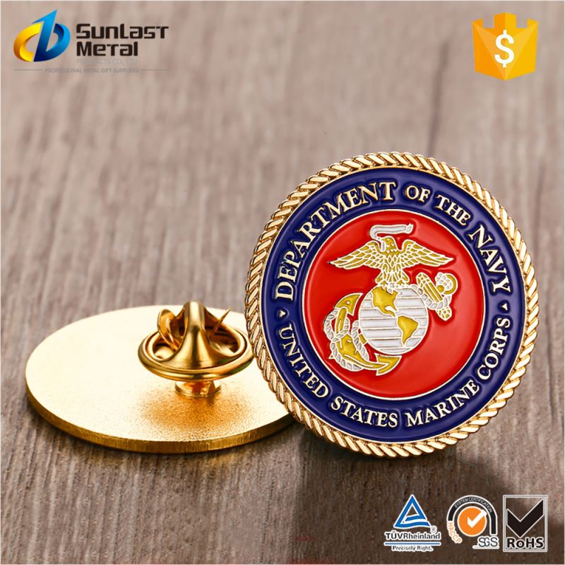 Hot sale attractive style custom cartoon metal insignia/pin badge with competitive price