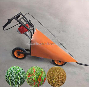 Gasoline small soybean harvester/mini corn cutting machine /pepper cutter hand push harvester