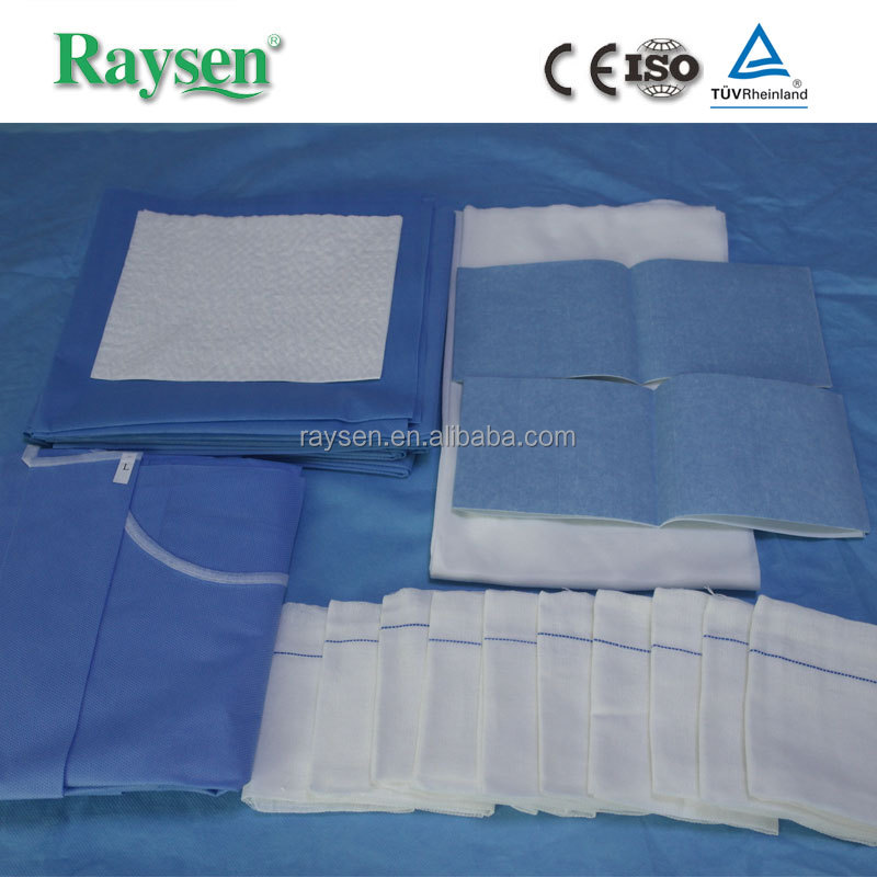High quality baby delivery surgical drape sets sterile surgical pack wraps