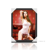 30 X 40cm Sexy And Lovely Girl 3D Lenticular Flip Picture/ Custom Lenticular Printing