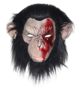 HALLOWEEN ADULT INFECTED CHIMP GORILLA MONKEY APE Face MASK