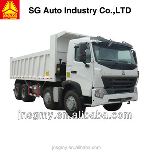 China Sinotruck howo 6x4 8x4 tipper/dump truck fuel consumption of dump truck white