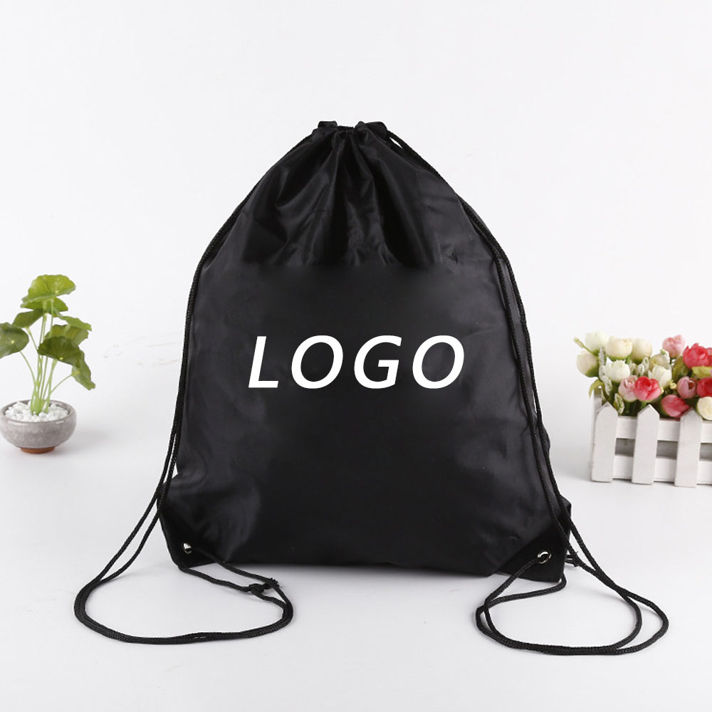 Wholesale Custom Cheap Polyester Bag Silk screen Backpack Promotional Bag