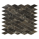 Wall Decorate tile Water Jet tile Diamond China Dark Emperador Marble Mosaic tile