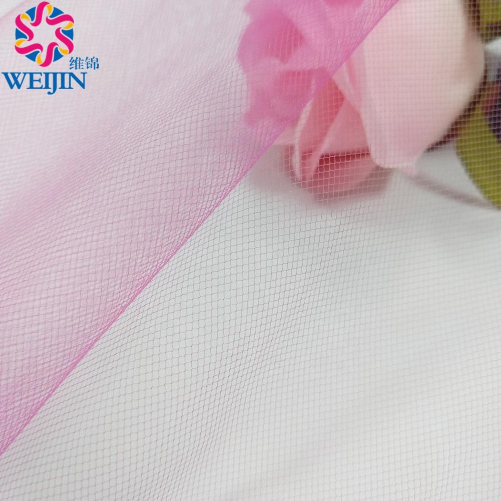 Wholesale 100% Polyester Tulle Mesh Fabric For Wedding Party Decoration Girlish Dress Fantasy Bride Tulle Material