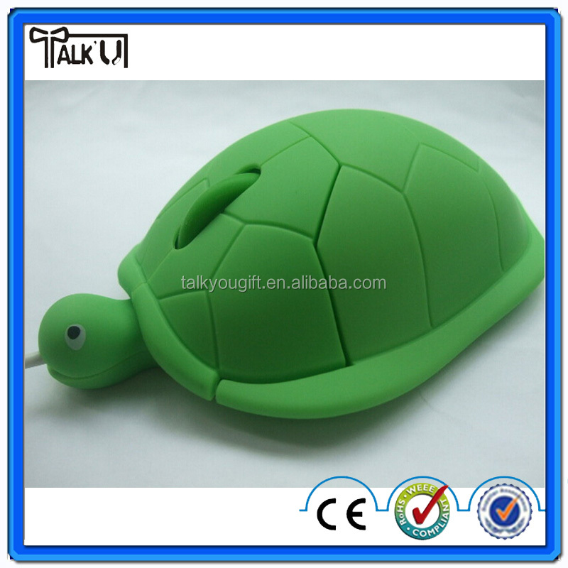 Novelty animal shaped turtle computer mouse/mini wired 3D optical turtle computer mouse/USB 2.0 1000dpi turtle computer mouse
