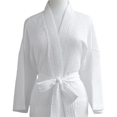 d297a2c42f Waffle Robe - 100% Egyptian Cotton - Unisex One Size Fits Most - Waffle