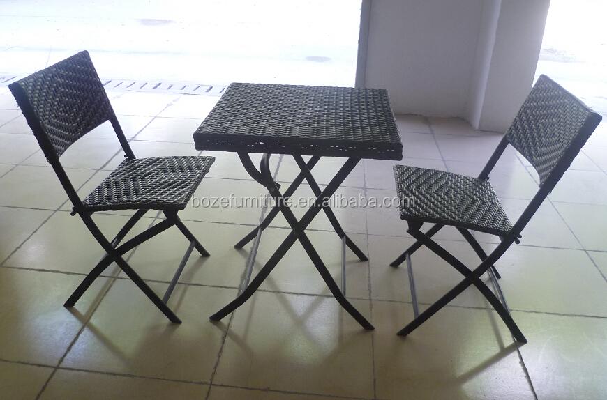 Smeedijzeren tuin rotan rieten eetkamer set meubels ijzeren patio dinning set tuin sets product - Leuningen smeedijzeren patio ...