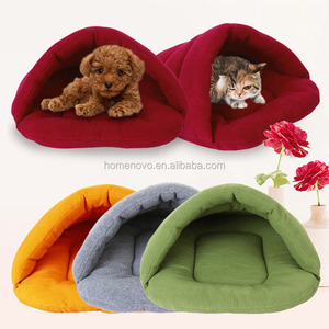 Cute Slipper Shaped Small Animal Dog Cat Bed Cave Sleeping Bags
