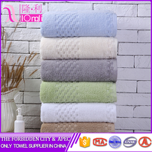 Good Quality uzbekistan Luxury 100% cotton colorful plain bath towel