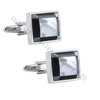 mother of pearl and onyx inlaid cuff links/ cufflinks hot sale for gift men's cufflinks