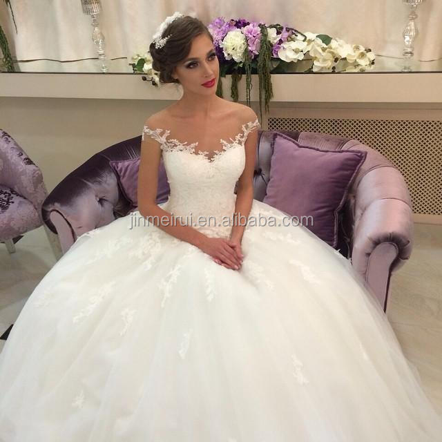 Puffy White Ivory Ball Gown Lace Tulle Romantic Wedding Dress Bridal Gown Dress For Wedding Vestidos De Noiva Buy Dress For Civil Wedding Crystal