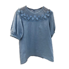 New Summer Dresses, Sweet Lace Stitching Doll Shirts, Bubble Sleeves, Leisure Shirts, Wholesale