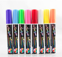 wholesale erasable colourful fluorescent marker pen for led writing board light board maker pen