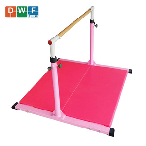 Air Track Home Training Set Gymnastics Equipment with Folding Balance Beam Gym Mat and Adjustable Horizontal Training Bar