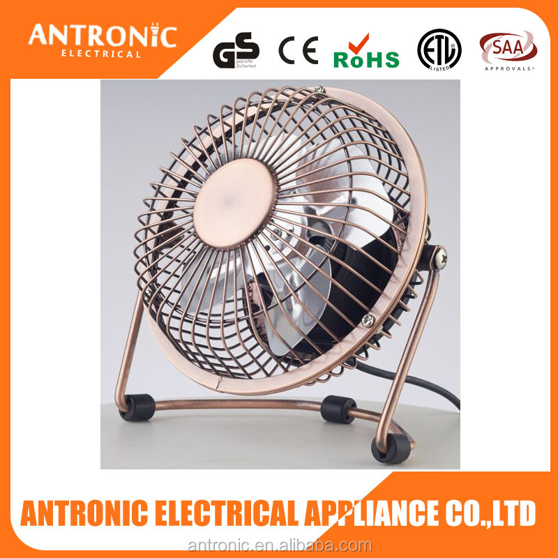 Antronic ATC-401A 5V recharge able mini USB cooling fan with bronze color & super quite design