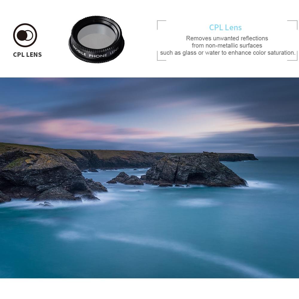 2020 Apexel wholesale DG5 wide angle&Macro, fisheye, telephoto Optical camera Cell Phone lens