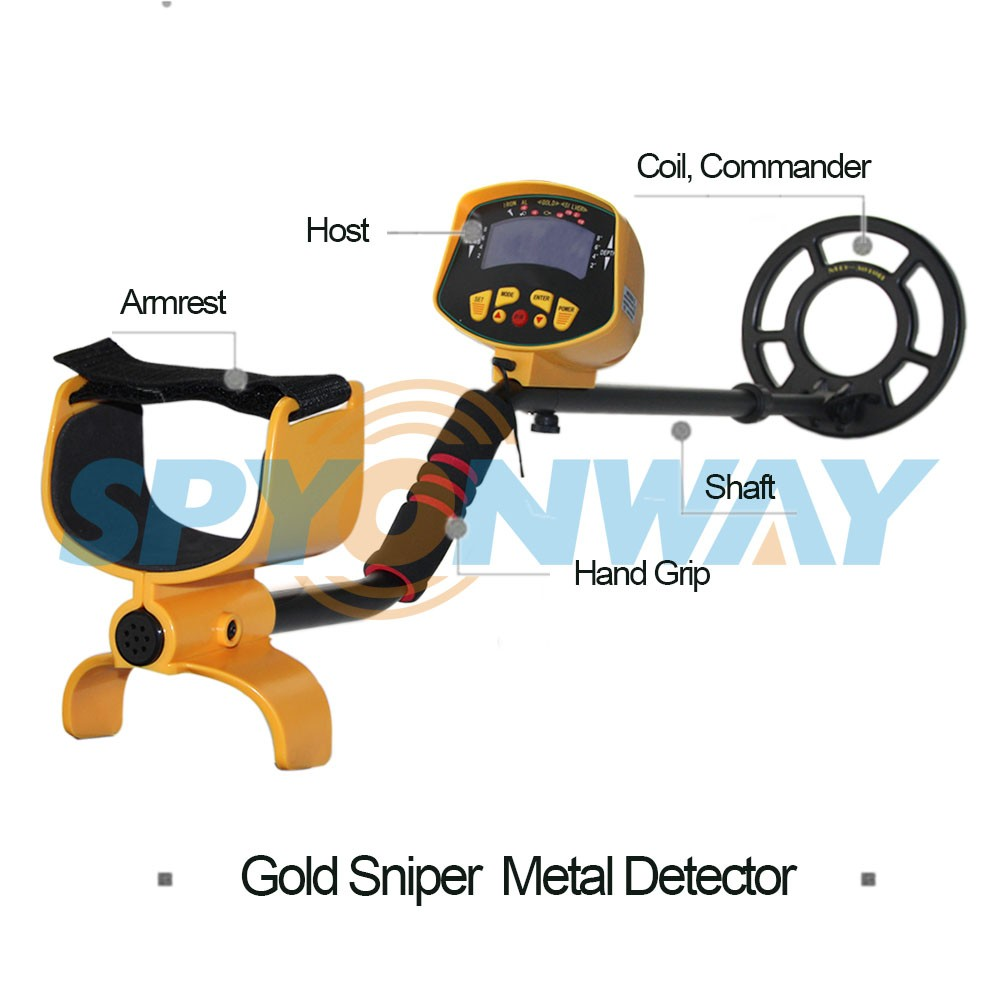 Portable MD-3010 II LCD ground deep searching metal detector with sound, light and easy adjustable device