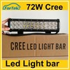 china online selling 12inch cree 72w led light bar for marine offroad Suv 4WD