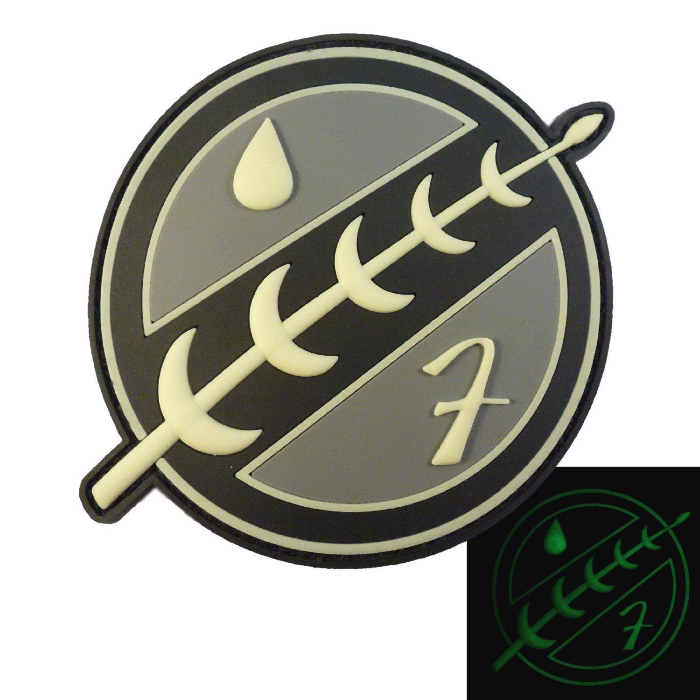 Boba Fett Crest 3D Star Wars Glow Dark Mandalorian GITD PVC Rubber 3D Hook&Loop Patch