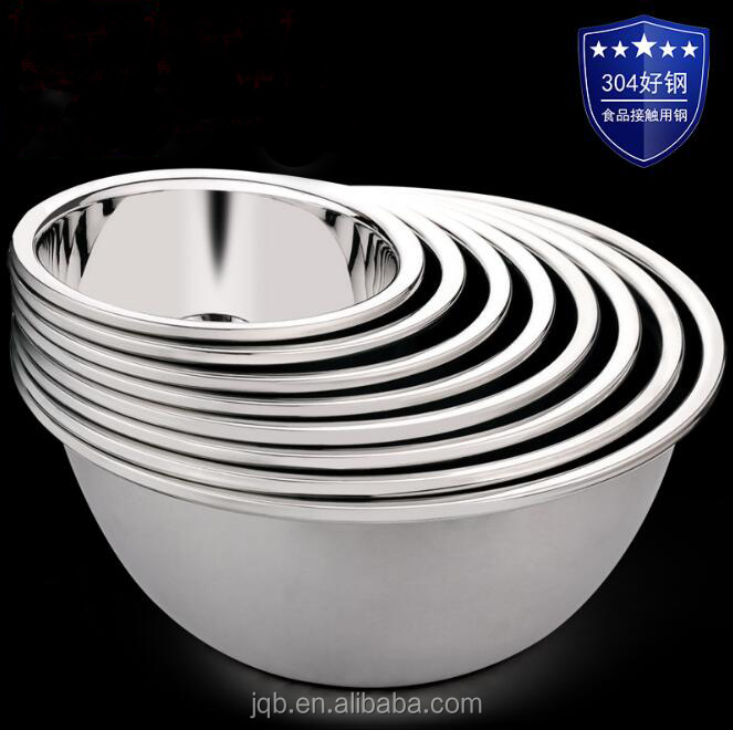 WN-M30 Stainless steel 304 kitchen ware metal mixing bowl set