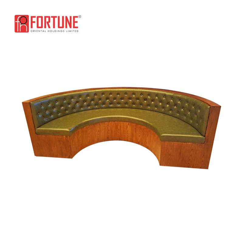 high back PU arc restaurant booth sofa for club furniture warehouse in Dallas (FOH-CK57)