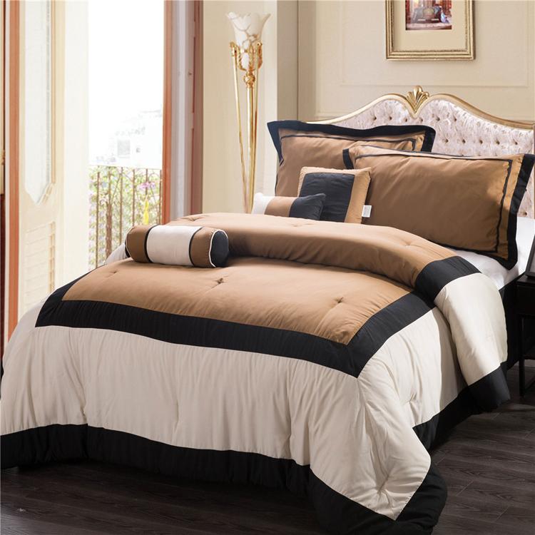 Modern Comforter Bedding Sets 7Pc Polyester Comforter Set ...