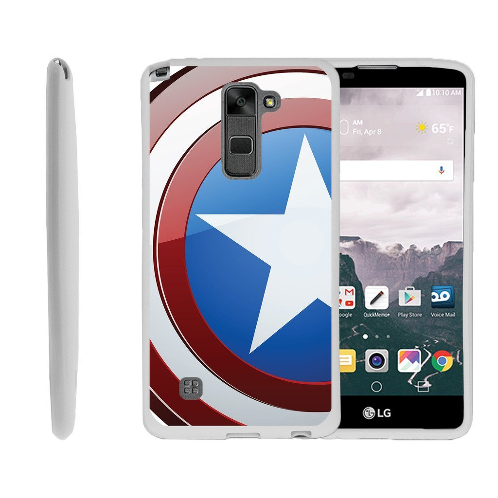 LG Stylus 2 Case, LG Stylo 2, LS775 Case [FLEX FORCE] Flexible SLim Fit TPU Case Cover Speciality Graphic Pattern by Miniturtle® - America Shield Hero