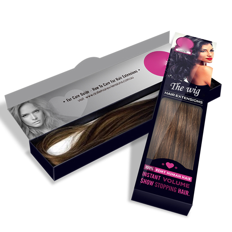 China Supplier Hair Weave Packaging Box Wig Weave Box Glossy