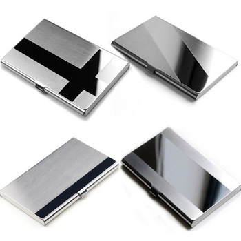 Slim Design Professional Stainless Steel Business Card Holder For Men and Women