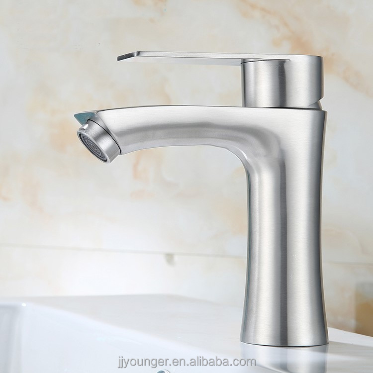 stainless steel square single Handle sink taps basin mixer taps hot cold water mixer tap