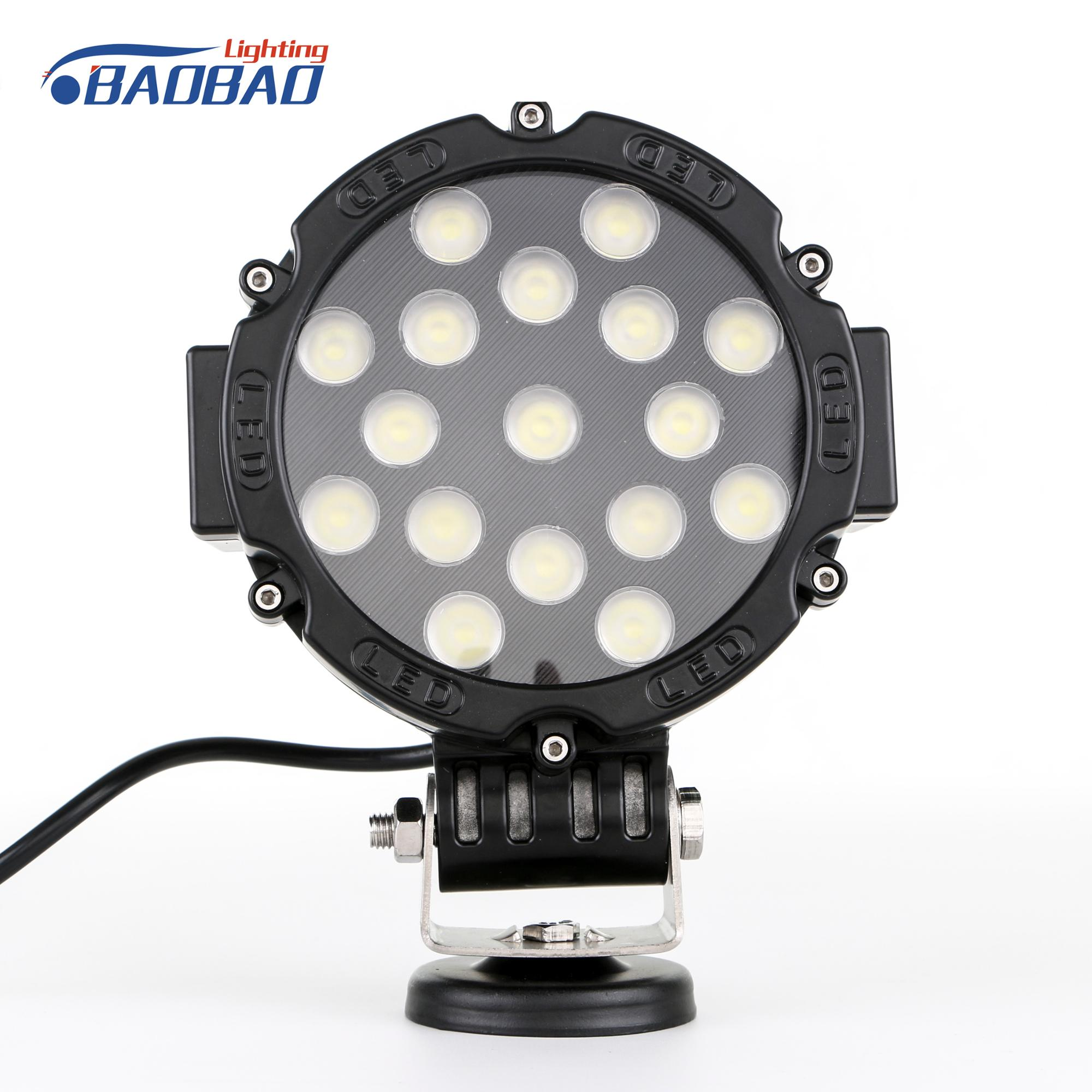 Wholesale led offroad car led work light supply 51w round auto led work light lamp with factory price