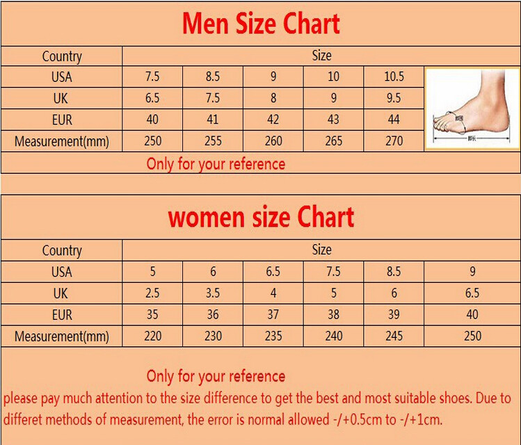Shoes Size  W Vs  E