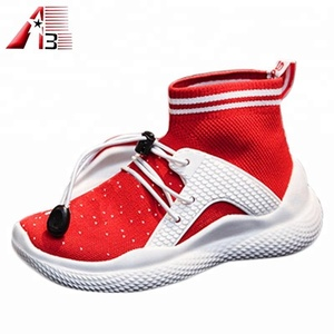 Factory customize made design your own athletic shoes with knitting upper