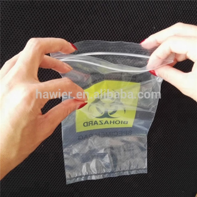 Biohazard Ldpe Poly Zipper Bag With Small Pocket On Back - Buy ... 681c7f0ac2732