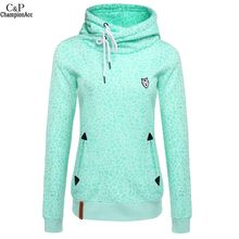 Leopard Print Tracksuits Women Sweatshirt 2016 Fashion Full Sleeve Slim Hooded Pullover Hoodies Moleton Feminino High Quality @k