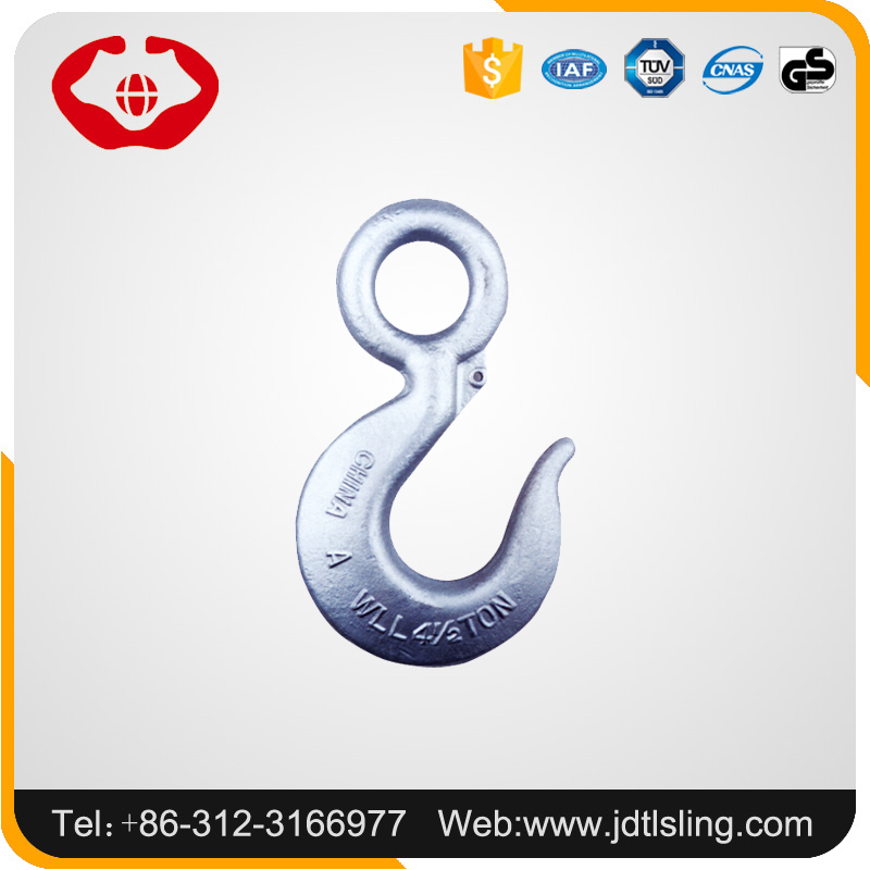 Labor-saving alloy steel material G80 US type lifting crane hook with eye
