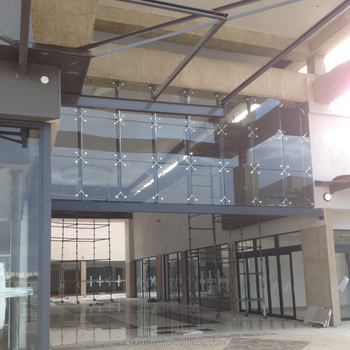 Moden Architektur Außen Fassade Punkt Befestigung Glasscheibe