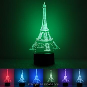 acrylic Light Tower 3d Table Acrylic Lamp Night On Lamp Lamp fashionable Buy Eiffel Product Led 7yYf6vgb
