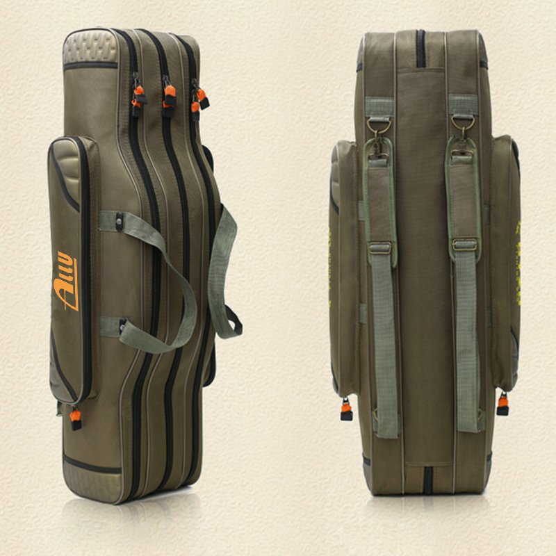 Custom Outdoor Waterproof Fishing Reel Rod Tackle Case Bag Backpack