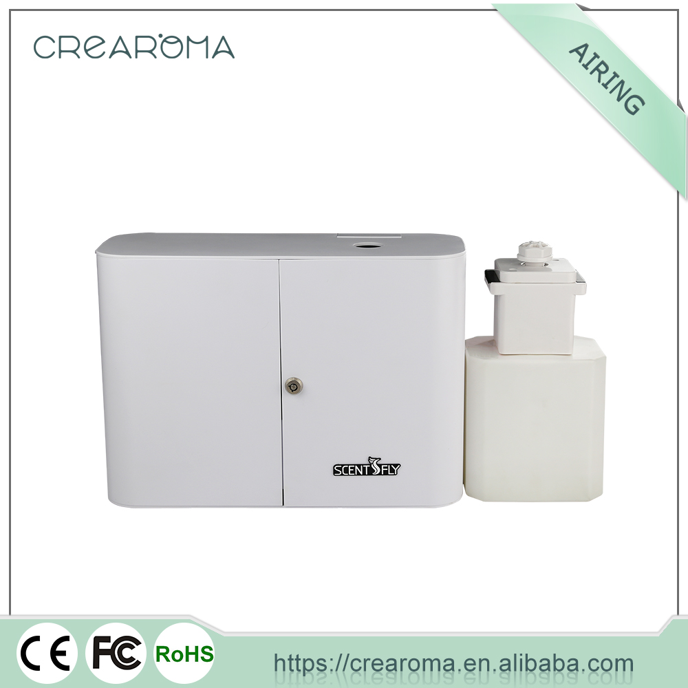 Hotel lobby air scent diffuser/automatic aerosol dispenser/electric air freshener machine with lock