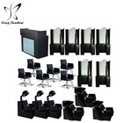 hair salon equipment set professional salon hooded hair dryers with chair seat