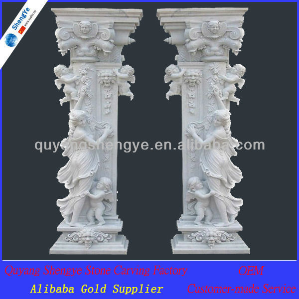 Decorative Pillars For Homes 40 glorious pillar designs to give a grand look to your house Decorative Marble Gate Pillar Design Buy Decorative Pillar Designstone Gate Pillarsmarble Pillars Design Product On Alibabacom