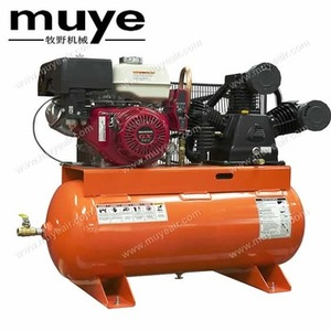 30 year experience 175PSI 12BAR diesel gasoline piston air compressor with air compressor 150L gallon horizontal tank