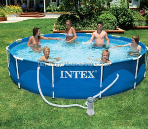 "durable above ground pool Intex Metal Frame Round Swimming Pool 12ft x 30"" With Filter Pump"