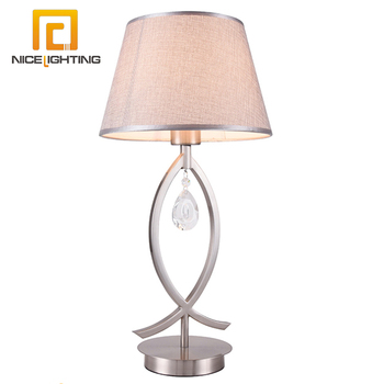 Clear Color Crystal Chandelier Bedside Table Lamp For Wedding Decoration