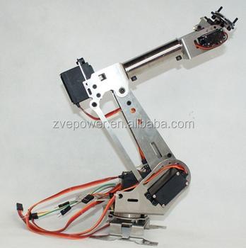Diy 6dof Aluminum Robot Arm 6 Axis Rotating Mechanical Robot Arm Kit - Buy  Robot Arm 6 Axis Rotating,Solar Robot Kit,Arm Tool Kit Product on