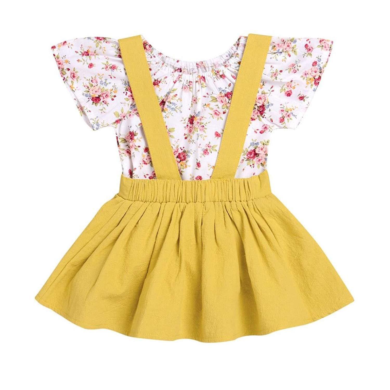 8636d1192f Pollyhb Baby Boys Girls Skirt Outfits Set