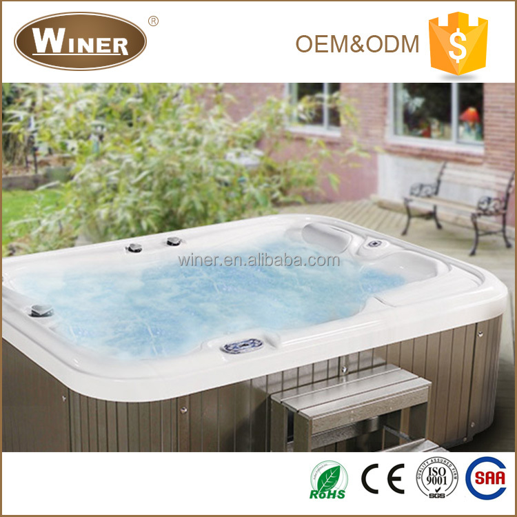 2016 Luxury Acrylic outdoor massage balboa hydro spa 3 person hot tub for sale