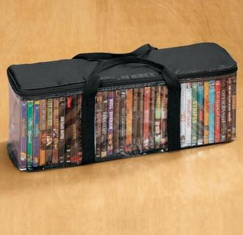 Por High Quality Clear Plastic Pvc Vhs Cd Dvd Storage Bag